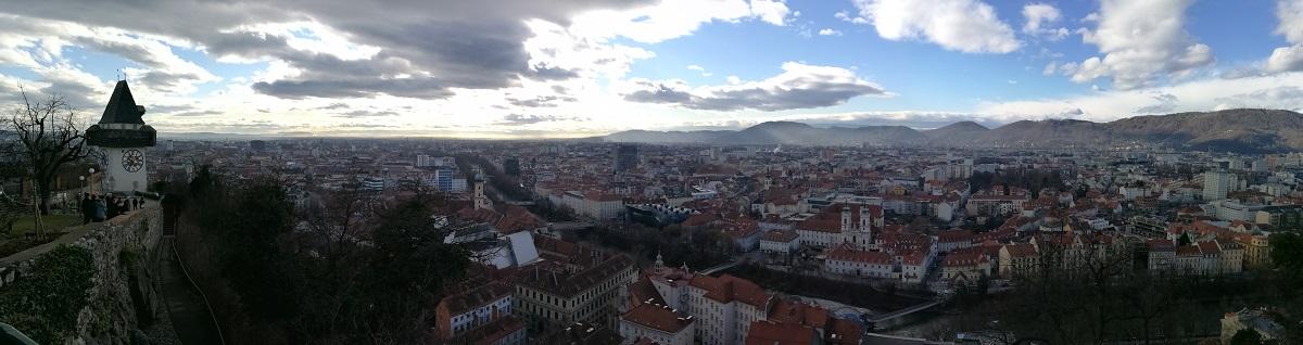 Graz Panorama 1200 x 318